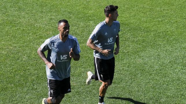 Akapo y Rhyner, durante un entrenamiento.