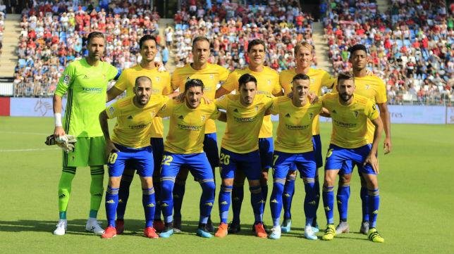 El once del Cádiz CF que salió de salida en Almería.
