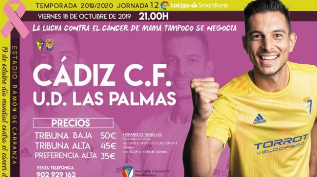 Marcos Mauro, y el cáncer de mama, protagonistas del cartel.