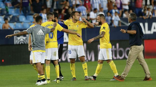 El Cádiz CF consiguió su última victoria en Málaga.