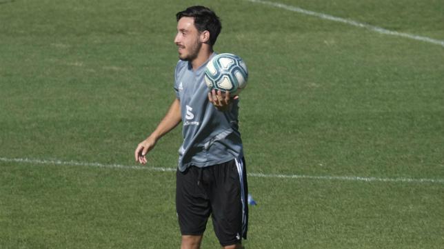 El portuense Iza en un entrenamiento.