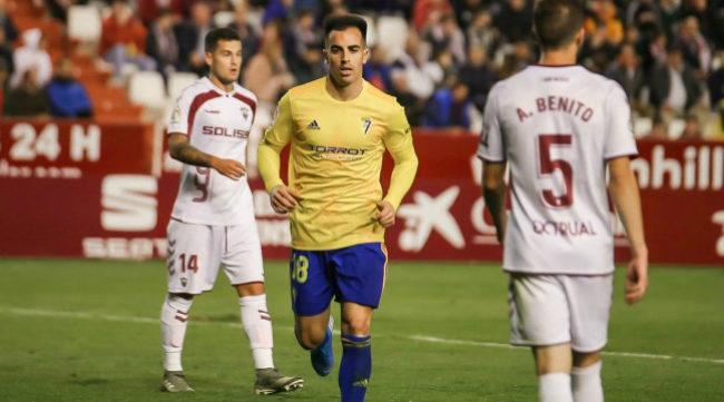 Jurado en su debut con el Cádiz CF (Foto: CCF)