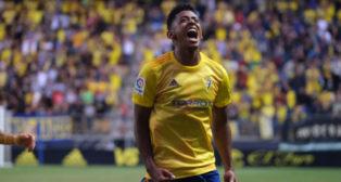 'Choco' Lozano, autor del gol del Cádiz CF.