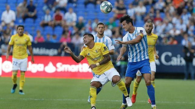 El Cádiz CF ganó en La Rosaleda.