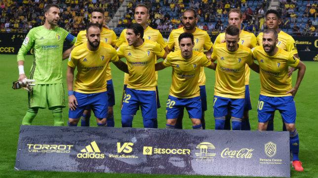 El once de Cervera ante Las Palmas.