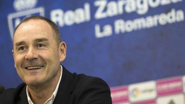 Víctor Fernández, entrenador del Zaragoza.