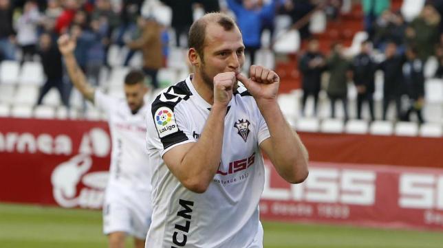 Roman Zozulya marcó el gol de la victoria del Albacete.