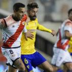 José Mari vio cómo le anularon un gol en Vallecas.