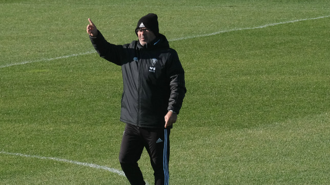 Álvaro Cervera, durante un entrenamiento.