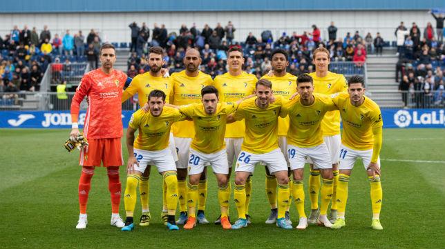 Once del Cádiz CF en Fuenlabrada