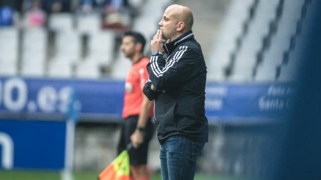 Javi Rozada, durante el partido.