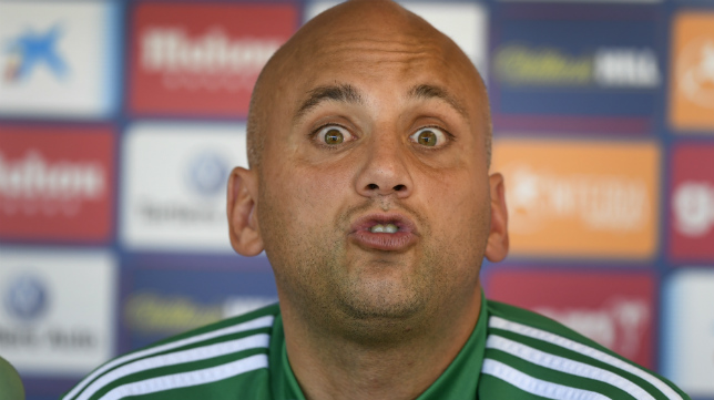 Javi Rozada, técnico del Oviedo.