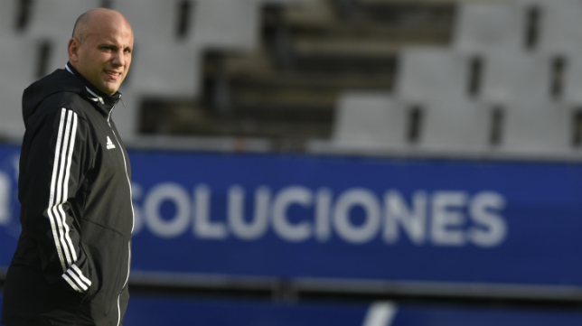 Javi Rozada, entrenador del Real Oviedo.