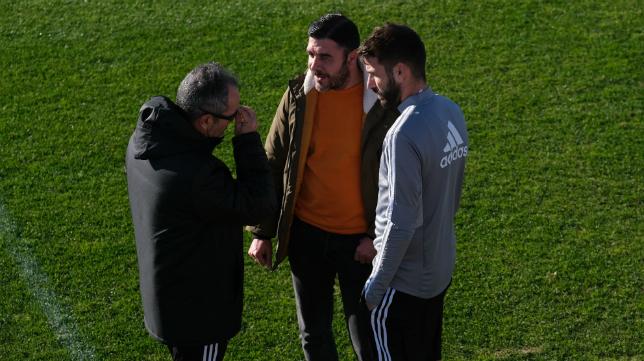 José Mari junto a ´ Álvaro Cervera y Enrique Ortiz en El Rosal.