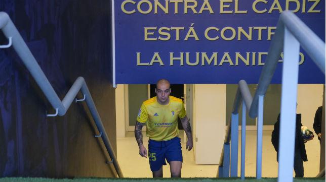Jorge Pombo en su presentación como jugador del Cádiz. Foto: Antonio Vázquez
