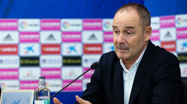 Víctor Fernández, en una rueda de prensa.