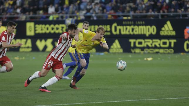 Álex fue el autor del segundo gol ante el Almería