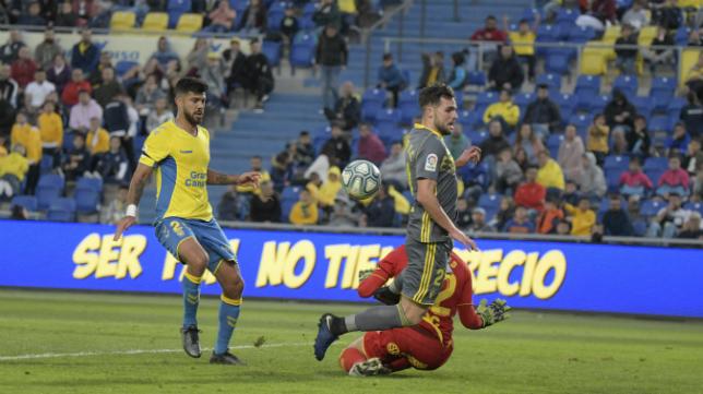 Álvaro Giménez debutó en Las Palmas.