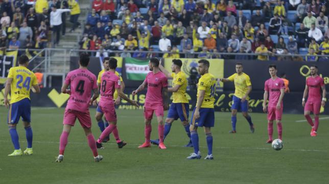El Cádiz CF no cuajó un buen partido ante el Málaga.