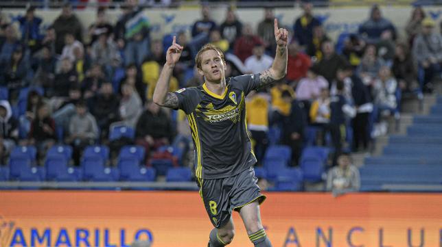 Álex es el máximo goleador del Cádiz CF.