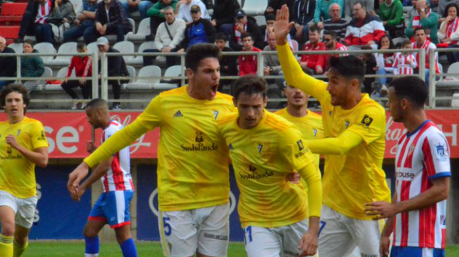 Nieto marcó el gol del Cádiz B en el Nuevo Mirador ante el Algeciras (1-1). Foto: Cádiz CF.