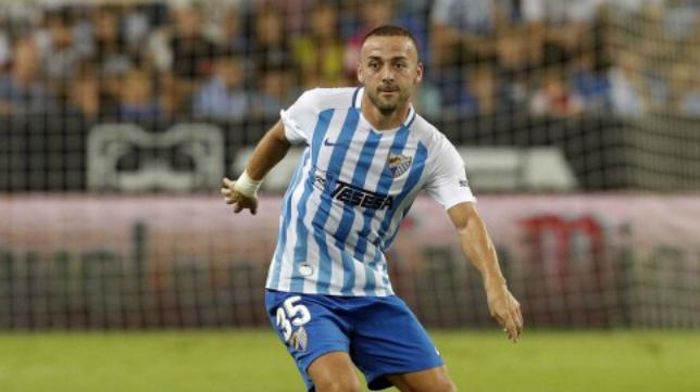 Keidi Bare, centrocampista del Málaga. Foto: Málaga CF.