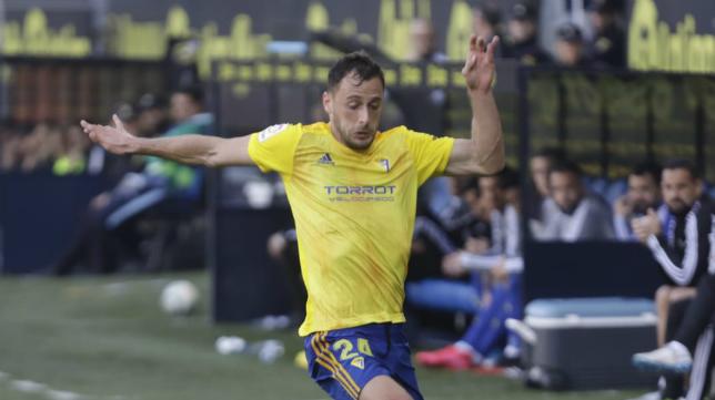 Malbasic en el partido ante el Málaga