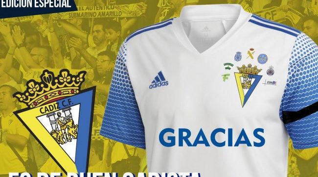 Camiseta solidaria que ha lanzado el Cádiz CF