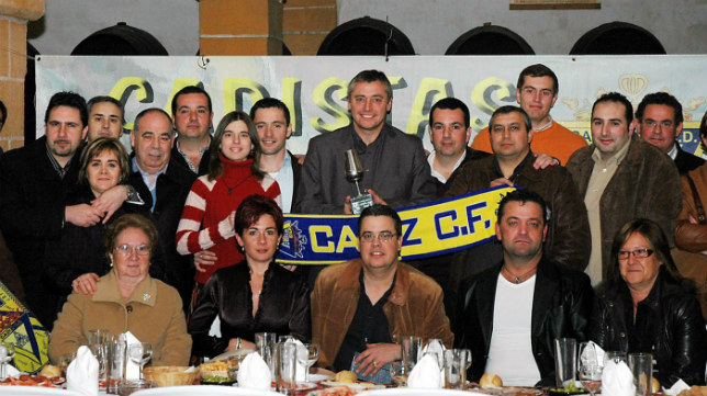 Foto de familia el día que Robinson recibió el premio de Cadista Fino en 2007