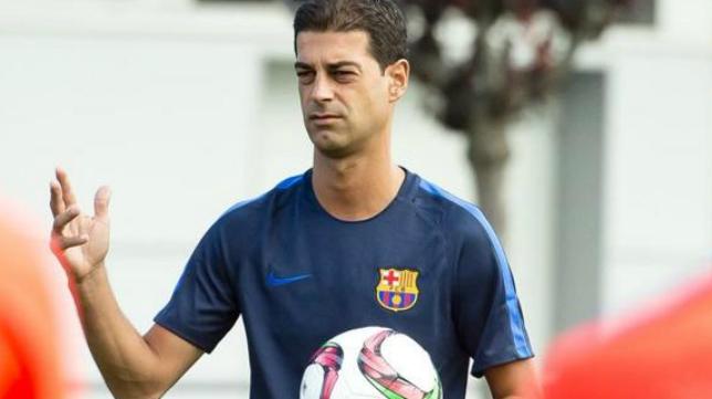 Gerard entrenó a Fali en el Barcelona B.