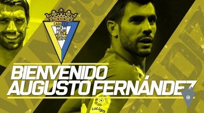 Augusto Fernández ya es jugador del Cádiz CF