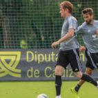 Álex y José Mari, en un entrenamiento. CCF