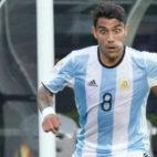 Augusto Fernández, con la selección argentina.