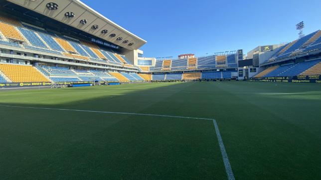 El Cádiz CF jugará sin afición este domingo. CCF