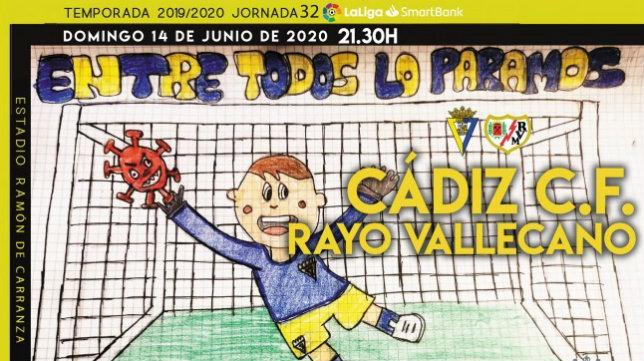 Cartel con el que se anuncia el encuentro ante el Rayo. CCF