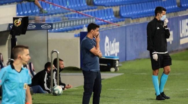 Míchel, durante el partido.