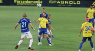 Perea fue clave en el gol primero del Cádiz CF.