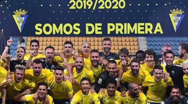 El Cádiz CF celebro el ascenso a Primera