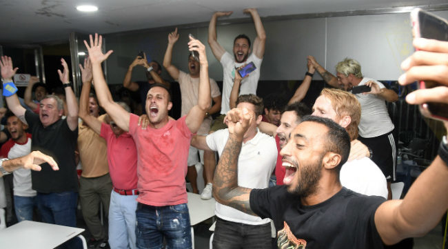 Perea no olvida la emoción al ver la victoria del Oviedo que daba el ascenso al Cádiz CF. CCF