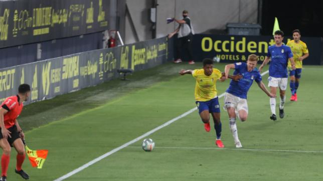 'Choco' Lozano fue el gran protagonista de la victoria ante el Real Oviedo.