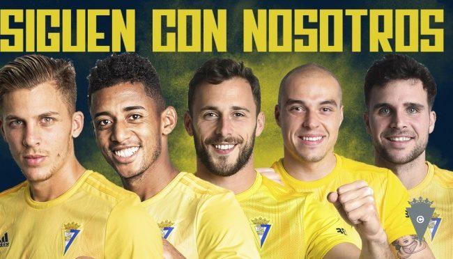 Los cinco cedidos ya son propiedad del Cádiz CF.