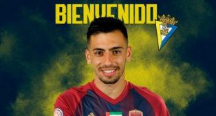 Gaspar Panadero, nuevo jugador del Cádiz CF. Foto: Cádiz CF.