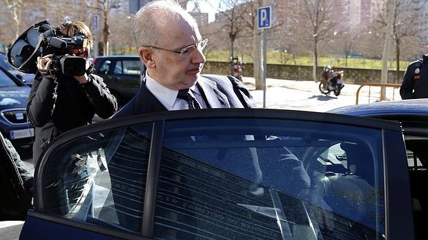 El exvicepresidente del Gobierno, Rodrigo Rato a su salida del Audiencia Provincial de Madrid