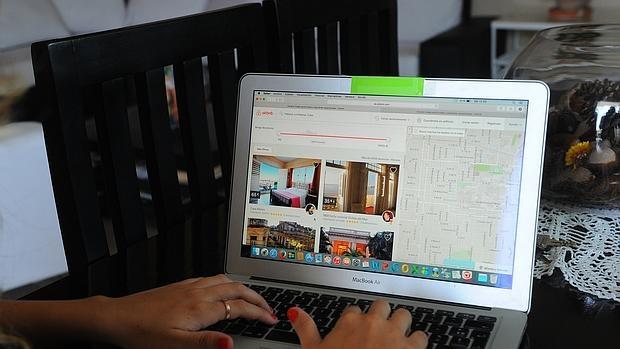 Usuario en la página web de Airbnb