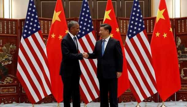 Barack Obama y Xi Jinping, ayer ante de la inauguración del G-20 en China