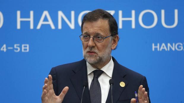 Mariano Rajoy durante su intervención en la cumbre del G-20