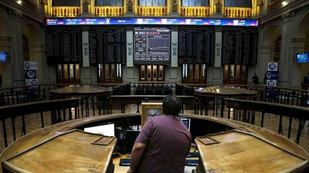 Interior del edificio de la Bolsa española