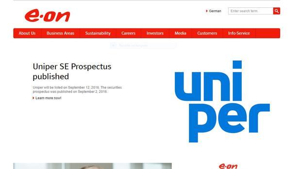 Página web de E.on