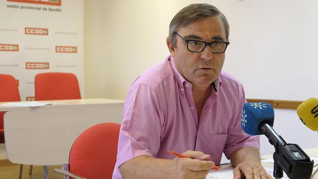 Alfonso Vidán, secretario general de CC.OO. de Sevilla