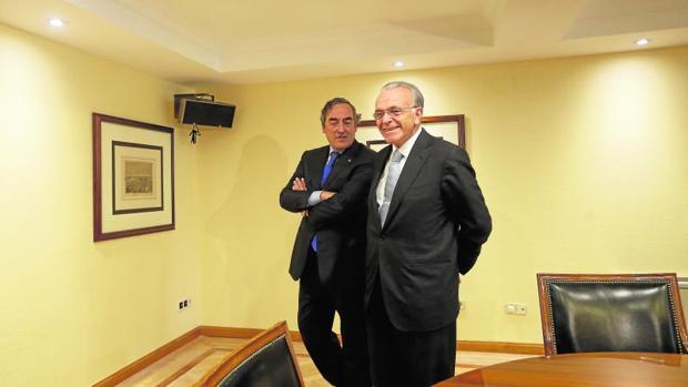 Joan Rosell e Isidro Fainé